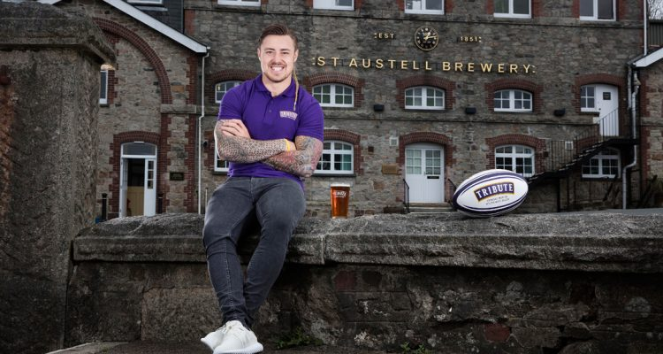 Exeter Chiefs and England Rugby Union player Jack Nowell at St Austell Brewery