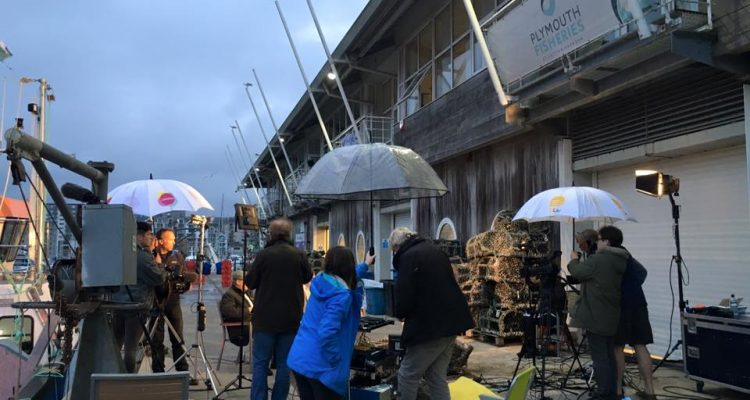 ITN News at Plymouth Fisheries with DCA PR