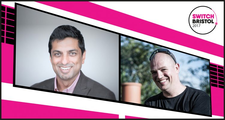 Vikas Arora from Bing and Food Photographer David Griffen, speakers at Switch Bristol