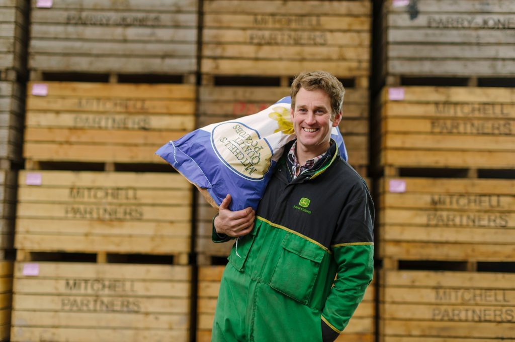 Potato Farmer, James Mitchell. Cornish Mutual. The importance of photography.