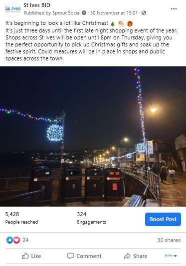 social media feeds over the holidays